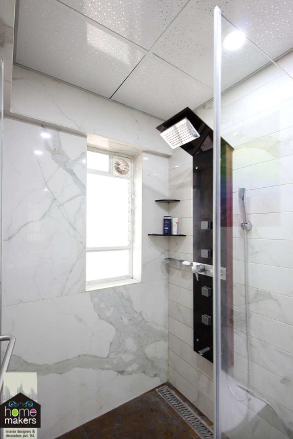 Master washroom 2: modern bathroom by home makers interior designers ...