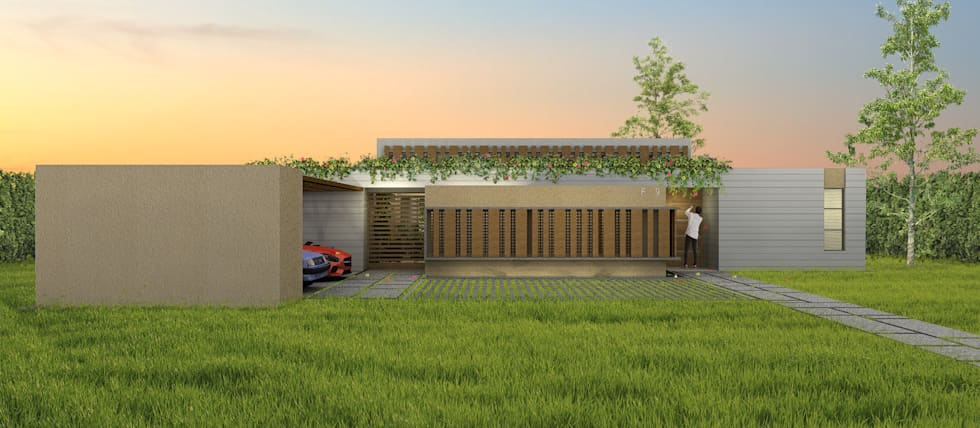 Casa La Morada DV: Casas de estilo moderno por COLECTIVO CREATIVO