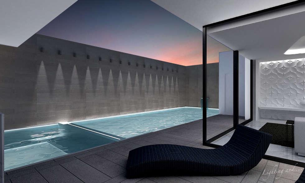 Lugano Nord: Pareti in stile  di Lighting and...