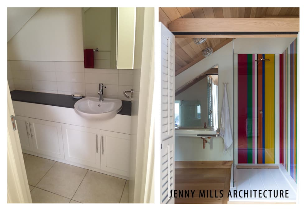 Bathroom 3 - before and after: modern Bathroom by Jenny Mills Architects