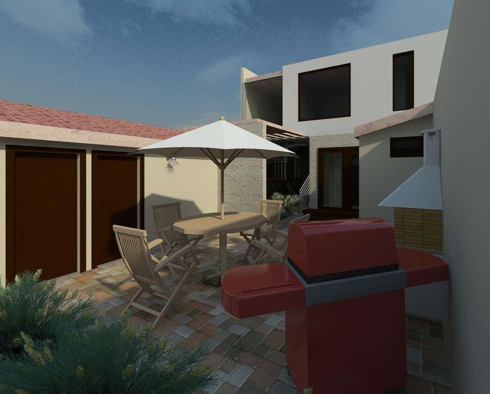terraza: Jardines de estilo moderno por Diseño Store