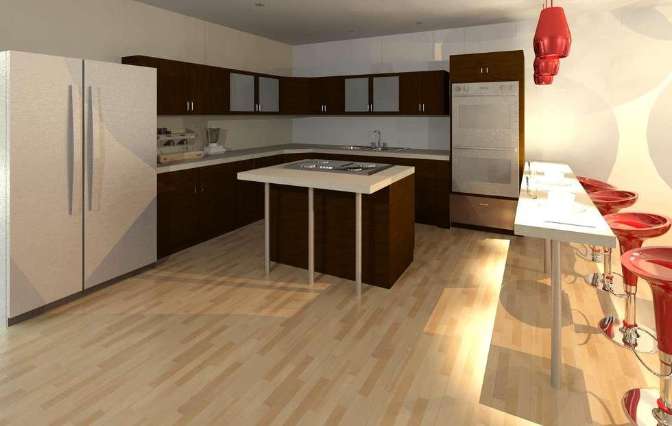 Vista de la cocina: Cocinas de estilo moderno por Diseño Store