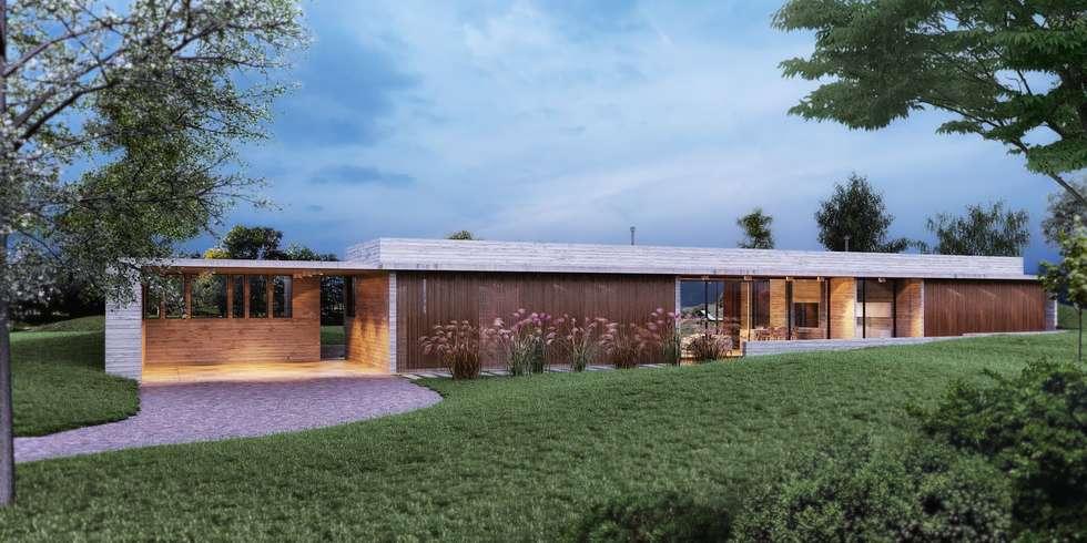 Horizontalidad: Casas de estilo moderno por Arquitecta Fernanda Isola