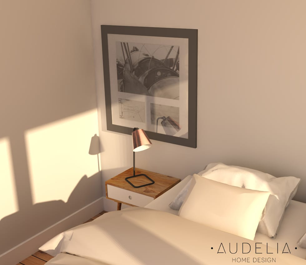 Zoom déco: Chambre de style de style Scandinave par AUDELIA HOME DESIGN