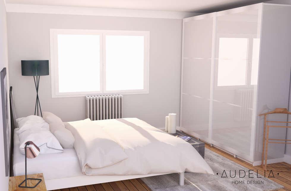 visuel 3D: Chambre de style de style Scandinave par AUDELIA HOME DESIGN