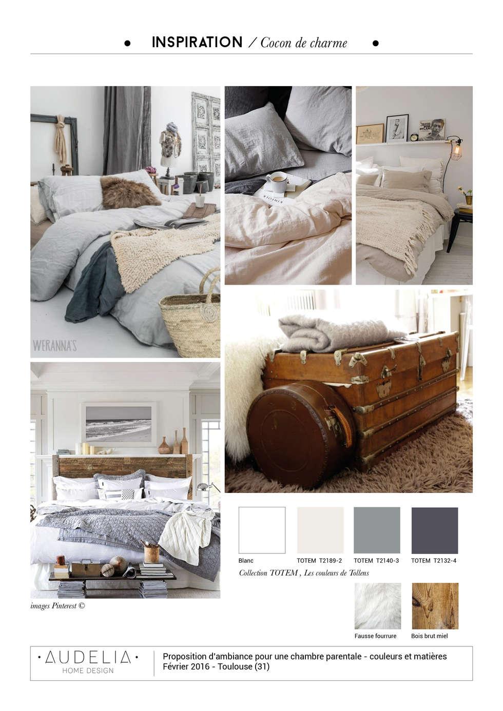 planche inspiration déco: Chambre de style de style Scandinave par AUDELIA HOME DESIGN