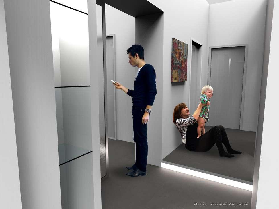 Casa Elfa: Ingresso & Corridoio in stile  di STUDIO TIZIANA GERARDI