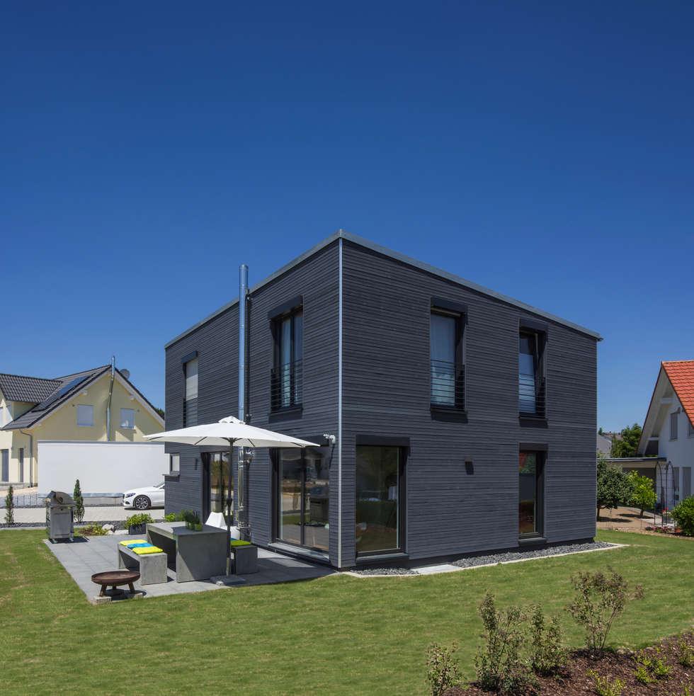 Moderne h user mit terrasse for Modernes l haus