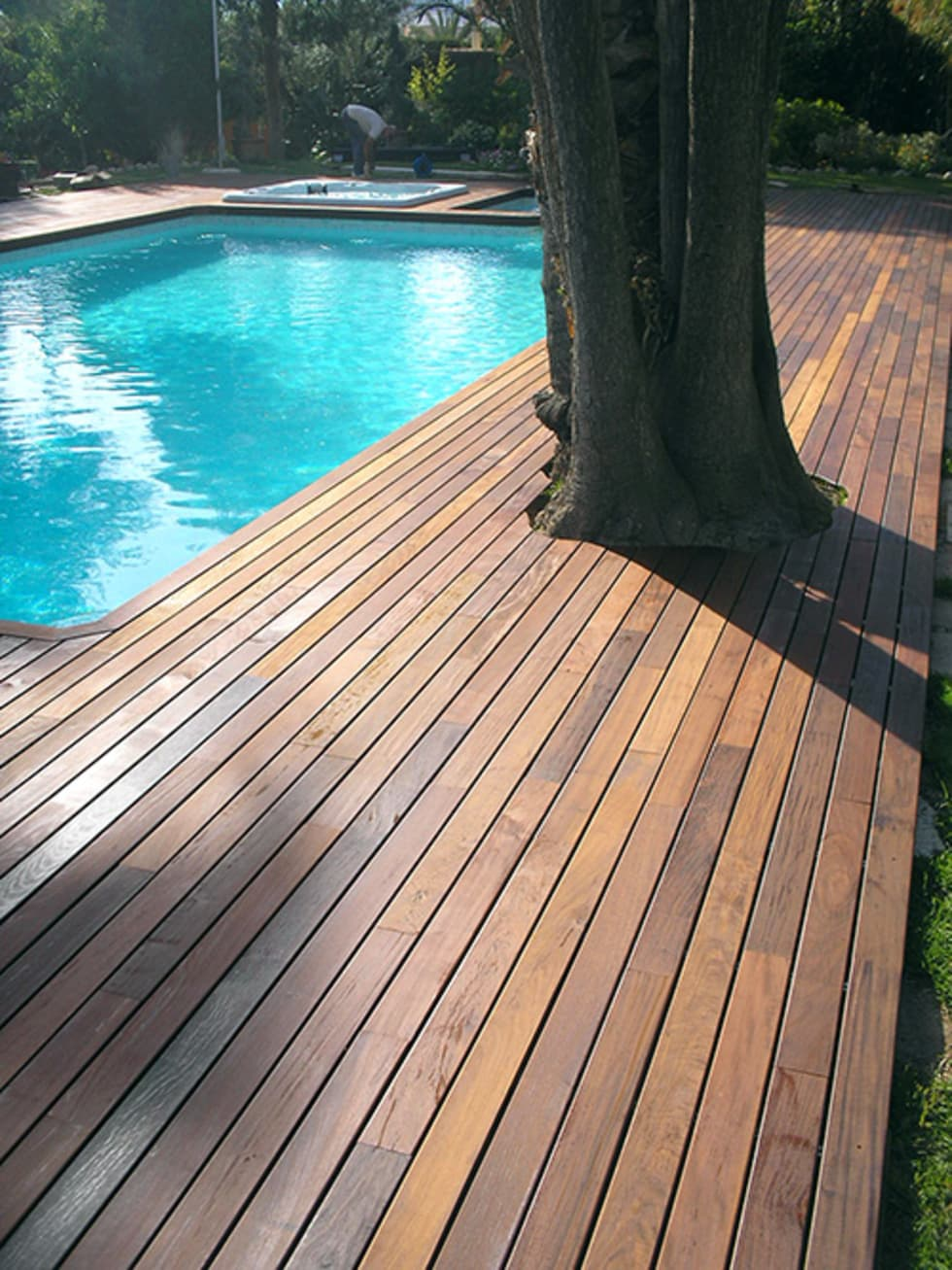 Tarimas Para Piscinas. Trendy Proyecto Entarimado Chalet Parquet Las ...