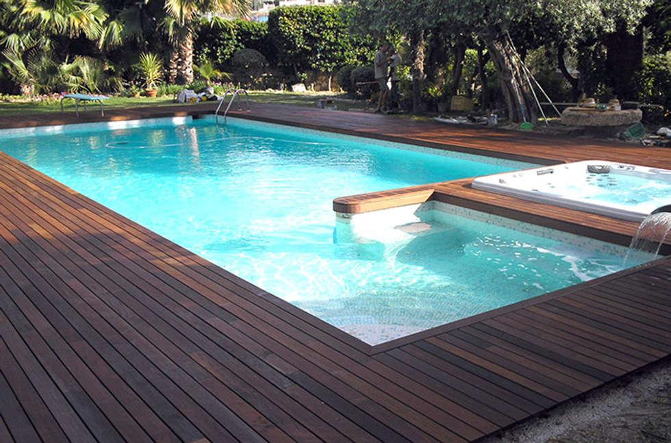 Fotos de decoraci n y dise o de interiores homify - Madera para piscinas ...