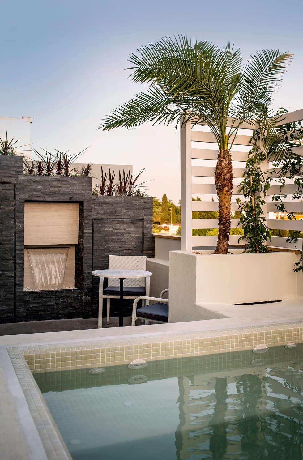Piscinas de terraza de piscinas en terrazas resultado de imagen de piscina de fibra para - Pergola terraza atico ...