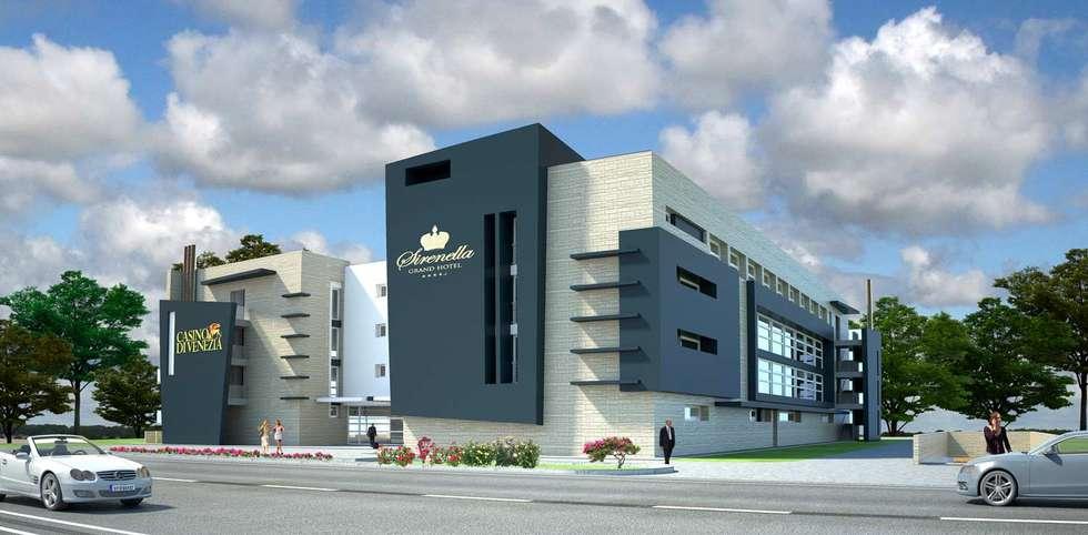 Rendering 3D | Esterni Architettonici: Hotel in stile  di Pasquale De Angelis