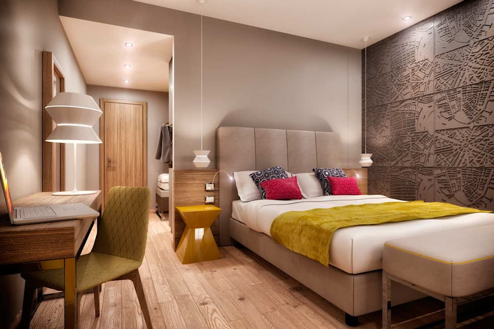Idee arredamento casa interior design homify for Camere albergo design