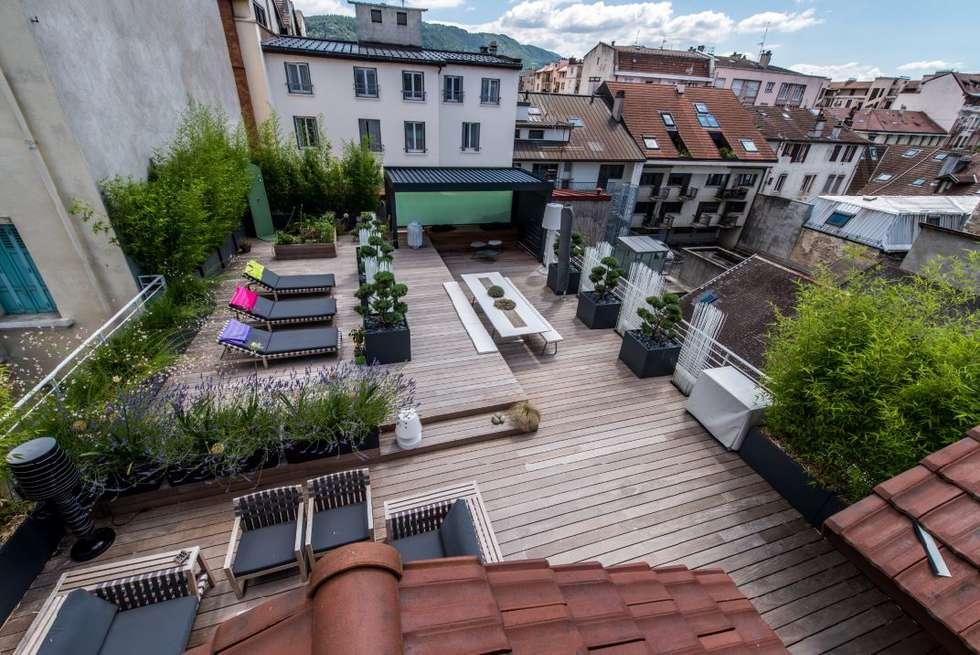 Villa Lisa - RoofTop: Terrasse de style  par EURL Atelier d'Architecture Michel Nicoletti