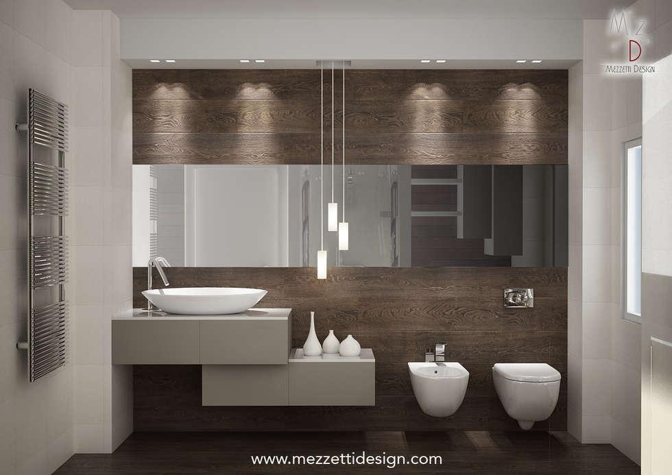 Bagno Stile Minimalista : Progetto di un bagno bagno in stile in stile minimalista di