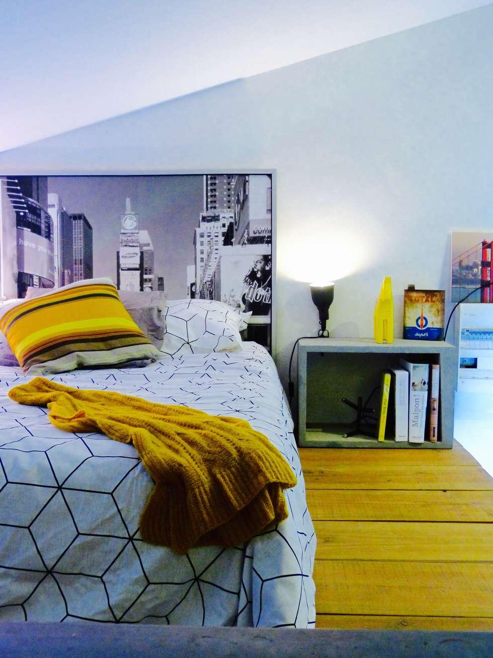 La chambre: Chambre de style de style Industriel par Home And Steel