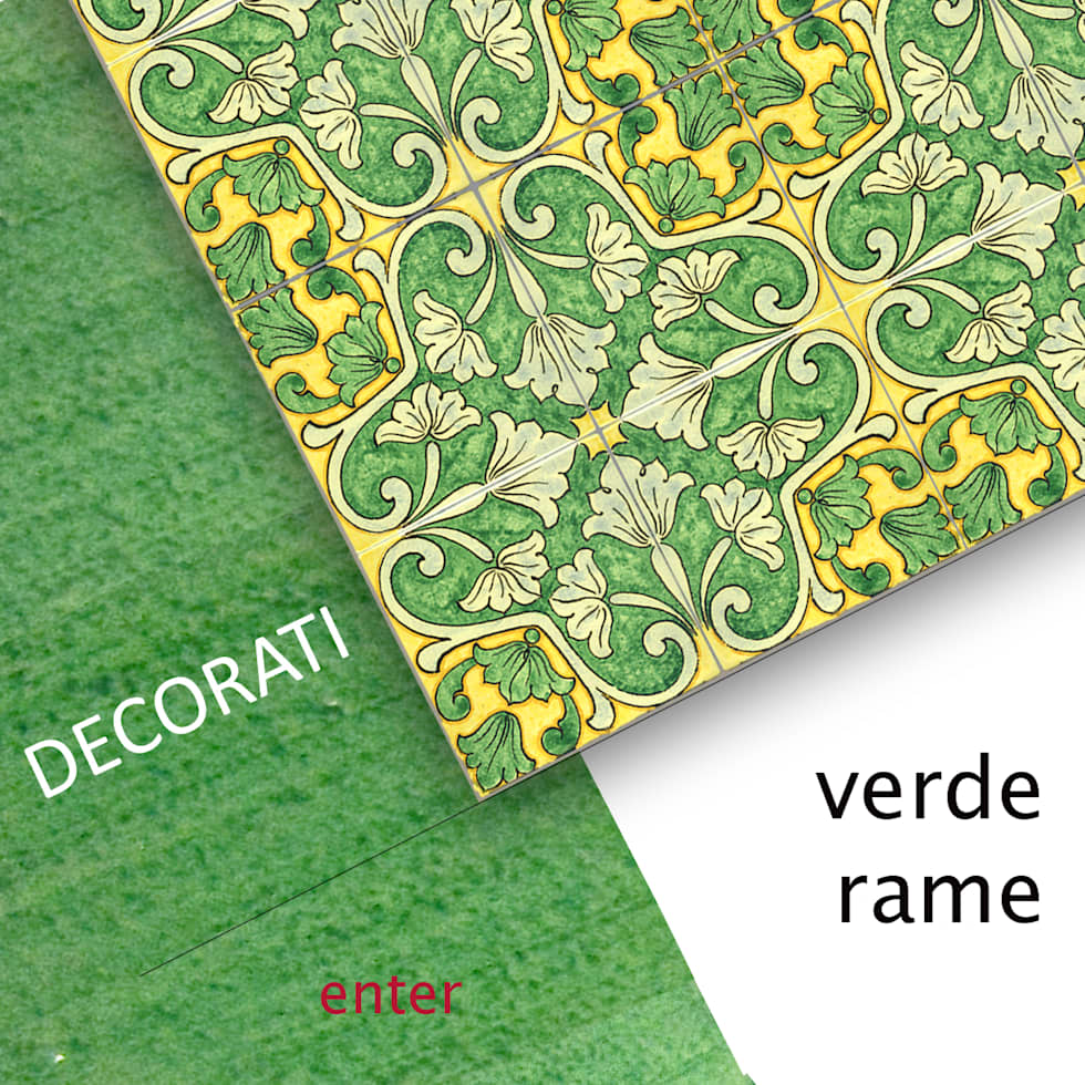 collezione VERDE RAME: Pareti in stile  di  Ceramiche Militello