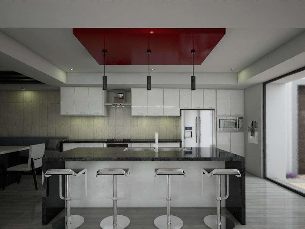 Cocina: Casas de estilo moderno por PRISMA ARQUITECTOS