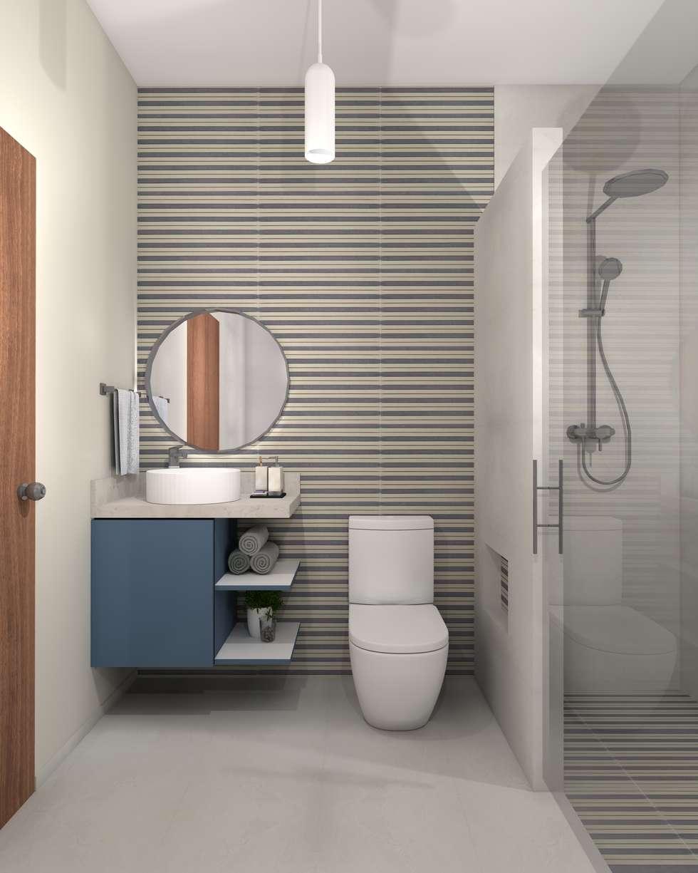 Baños de estilo minimalista por Constructora e Inmobiliaria Catarsis
