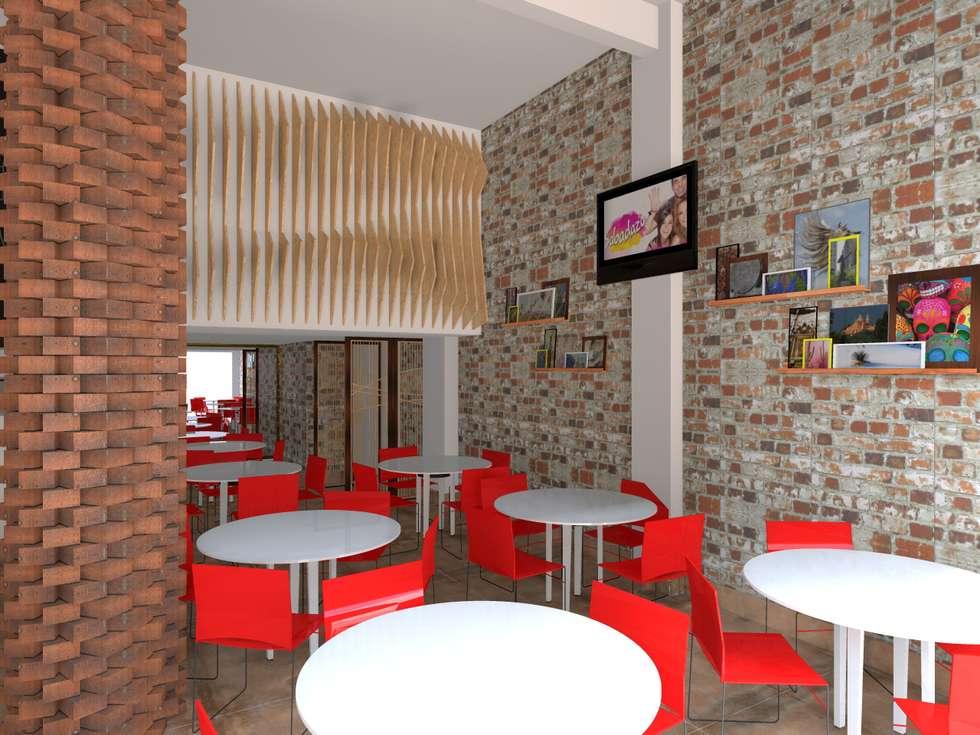 Área de Comensales : Comedores de estilo rústico por Wave Arquitectura