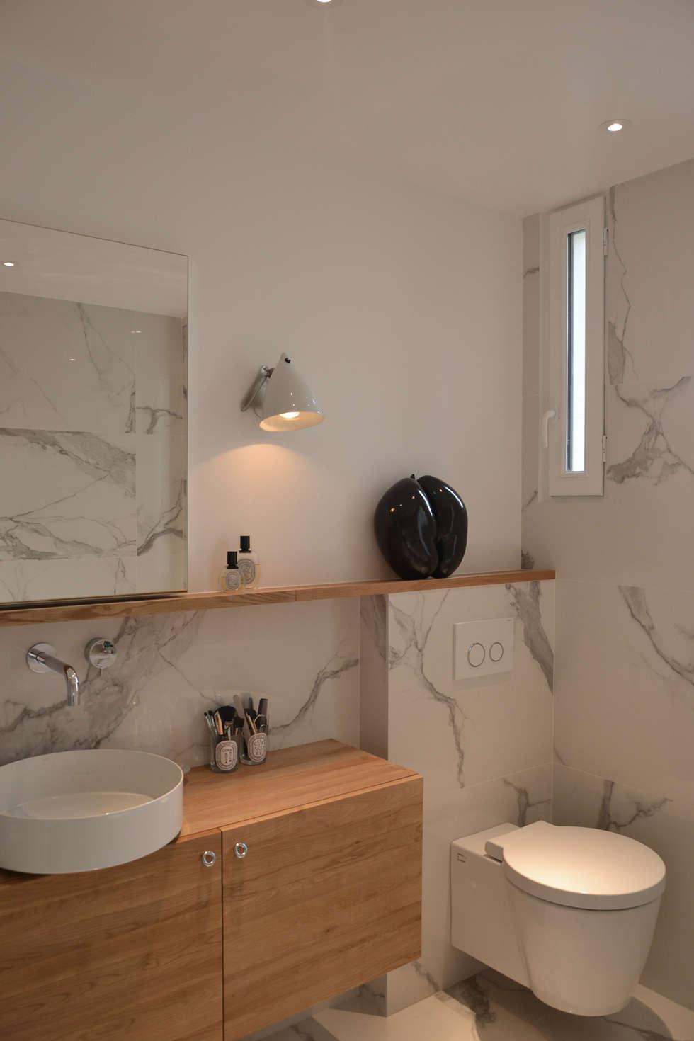 Salle de bain - Appartement Paris 15e: Salle de bains de style  par A comme Archi