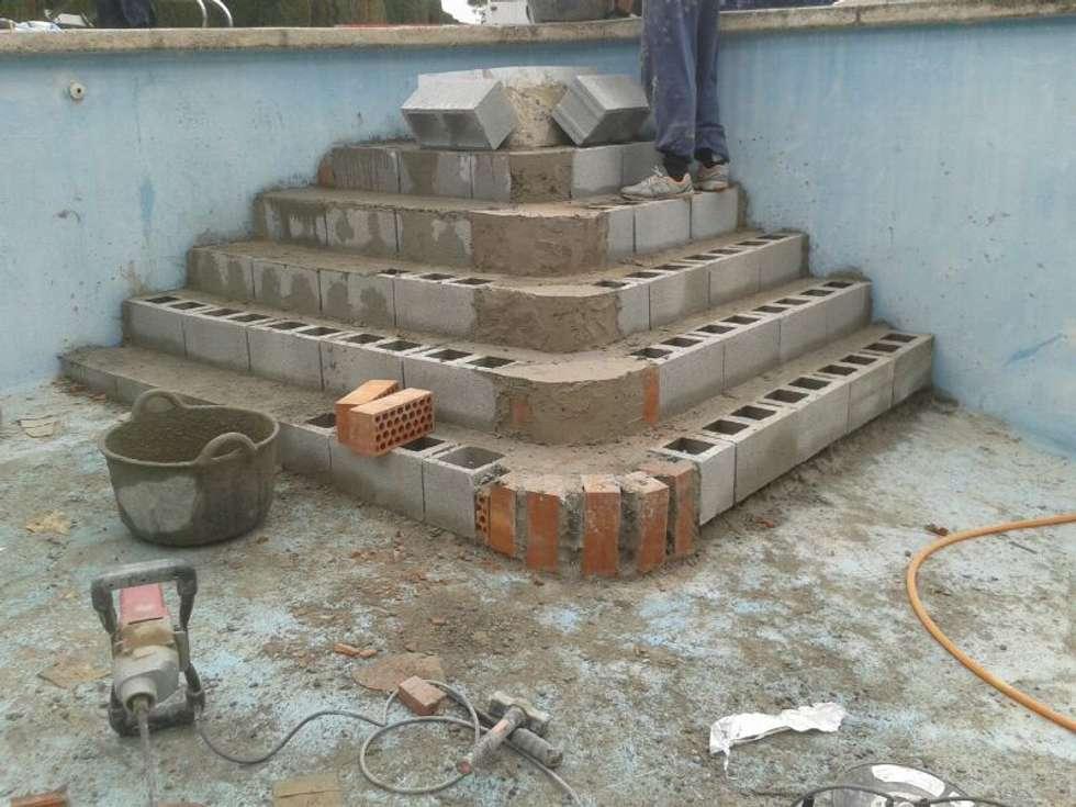 construccin de escaleras de obra de estilo de diaz pools
