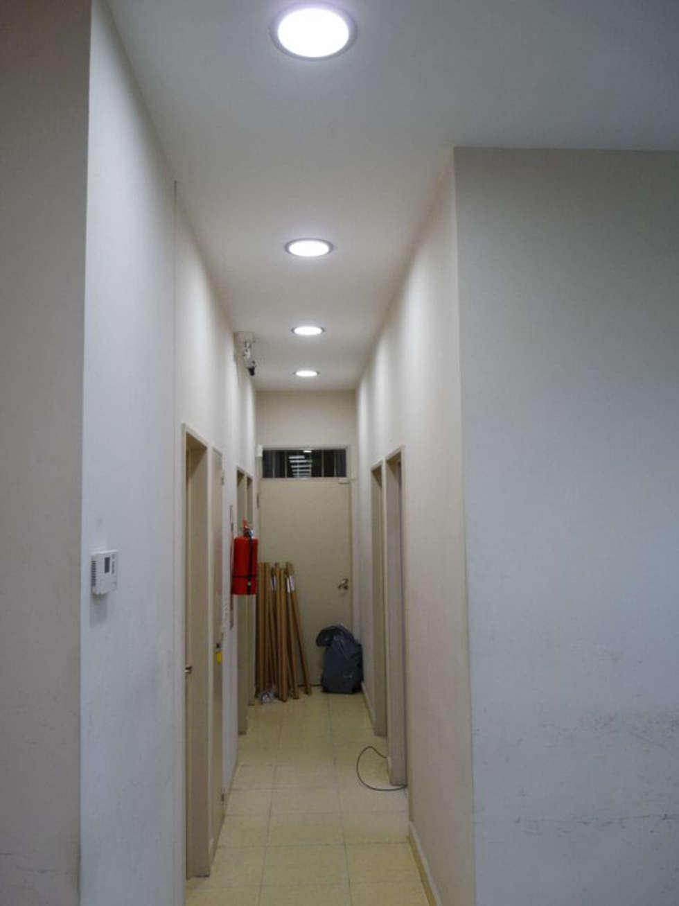 Iluminación LED, Banco Provinciao Interior Y Marquesina, Todo Con LEDs:  Oficinas Y Locales