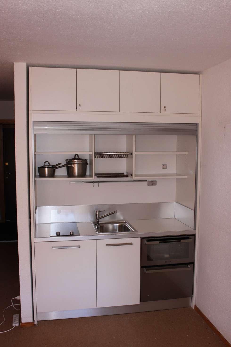 Idee arredamento casa interior design homify - Cucina monoblocco a scomparsa ...