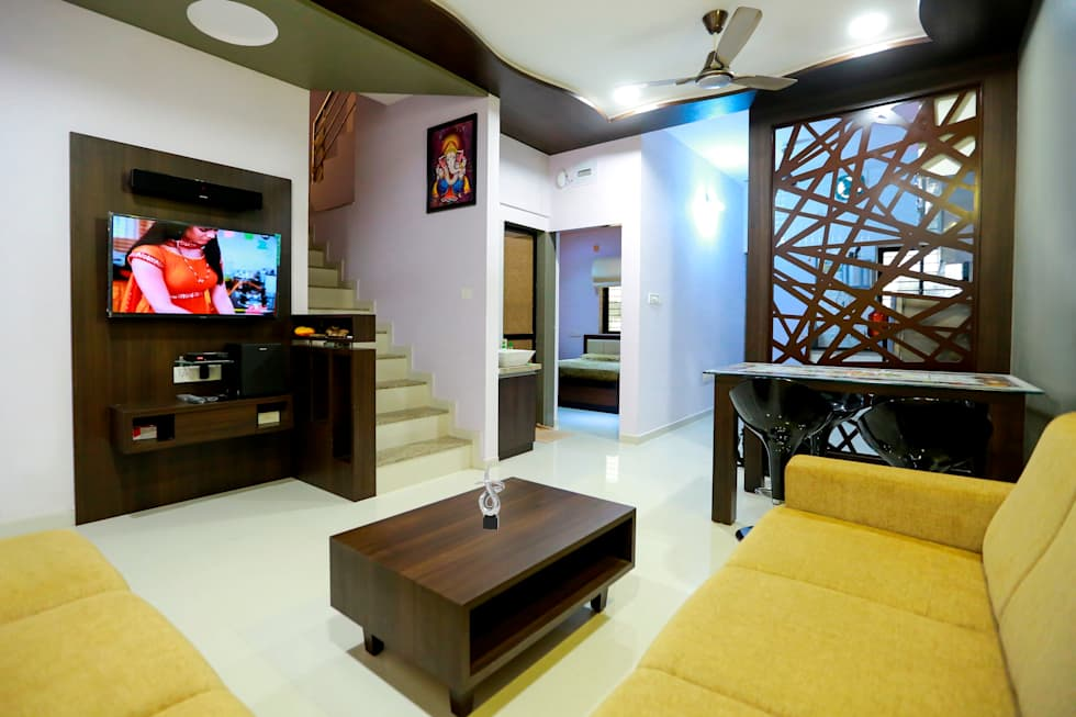 TV Panel  modern Living room by ZEAL Arch Designs Interior design ideas inspiration pictures homify