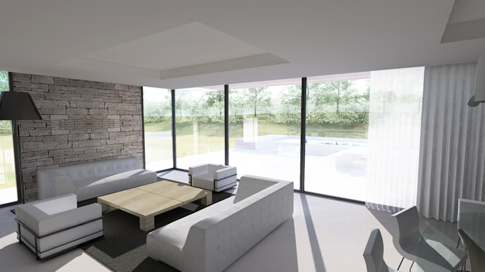 intrieur maison contemporaine ain salon de style de style moderne par arrivetz belle