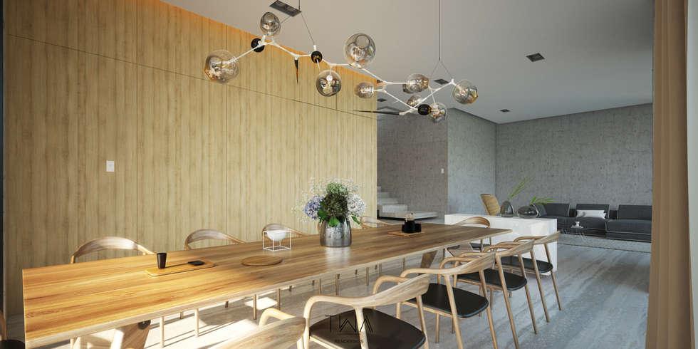 Estancia: Comedores de estilo moderno por TW/A Architectural Group