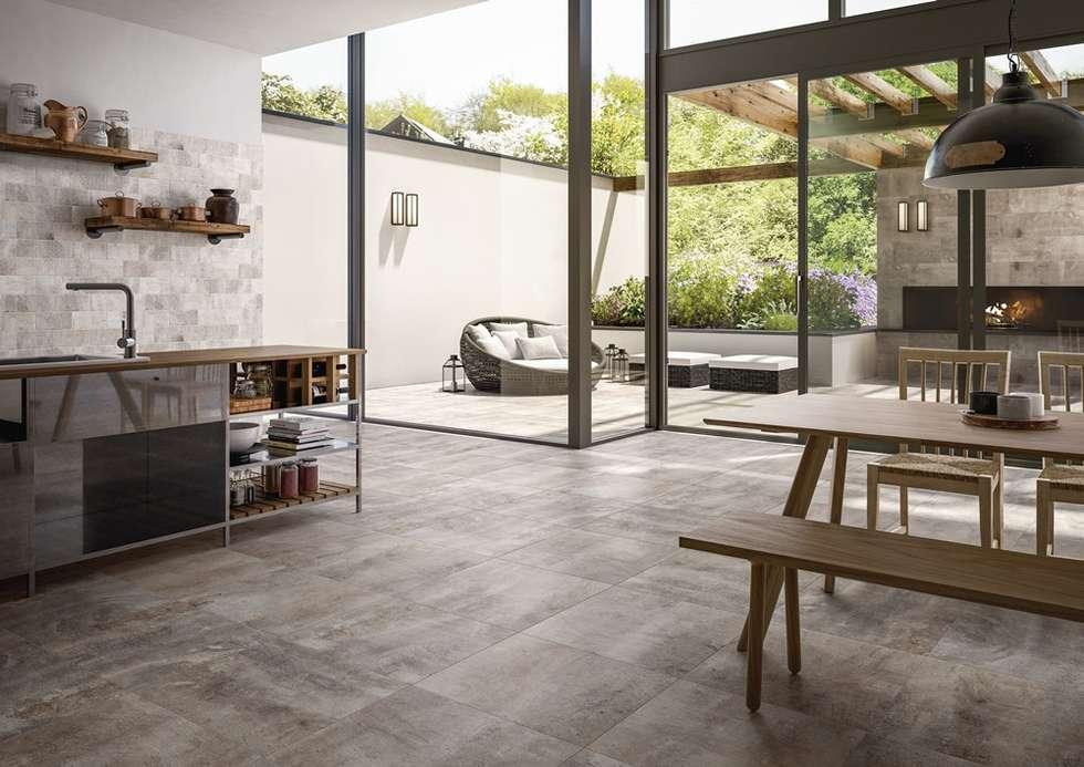 Industrieel Keuken Tegels : Een keuken met ruimte die écht doorloopt tot op het terras