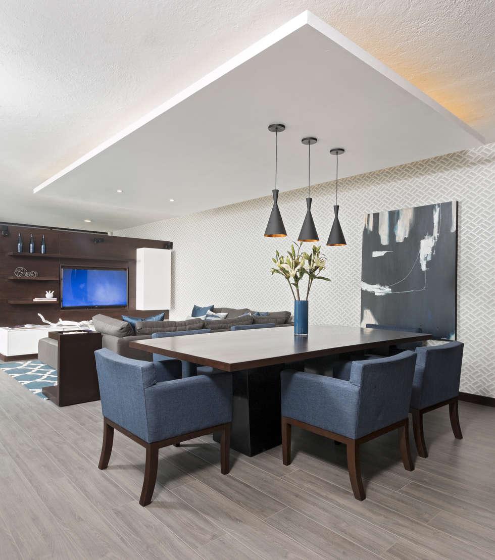 Casa RR: Salas multimedia de estilo moderno por MM estudio interior