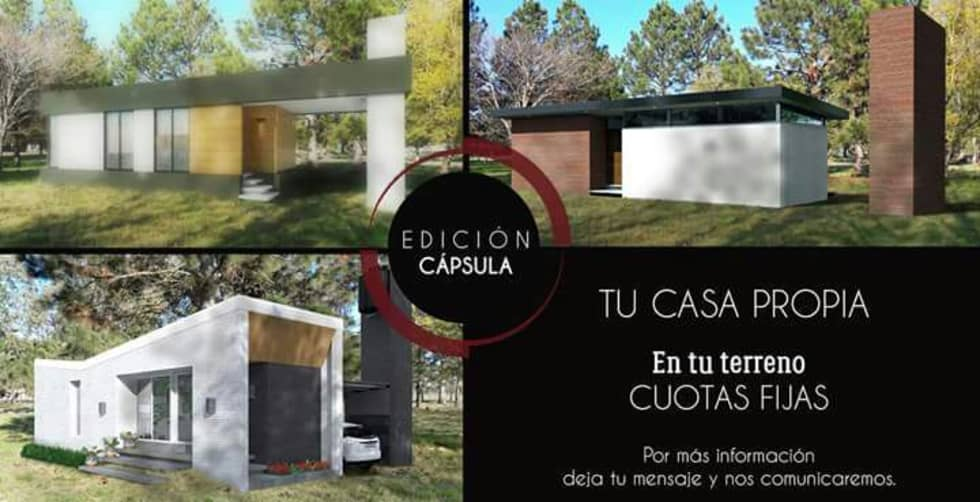 TU CASA / EDICION CAPSULA: Casas de estilo minimalista por VHA Arquitectura