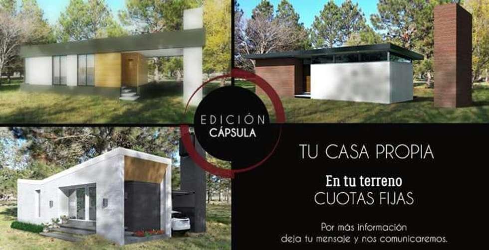 TU CASA / EDICION CAPSULA / VIVIENDA R: Casas de estilo moderno por VHA Arquitectura