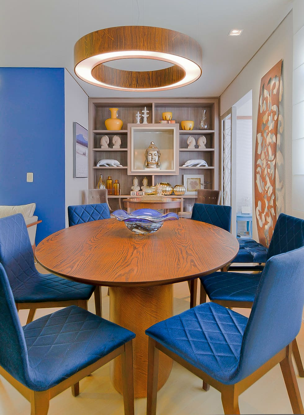Fotos De Decora O Design De Interiores E Reformas Homify -> Decoracao Sala De Jantar Azul