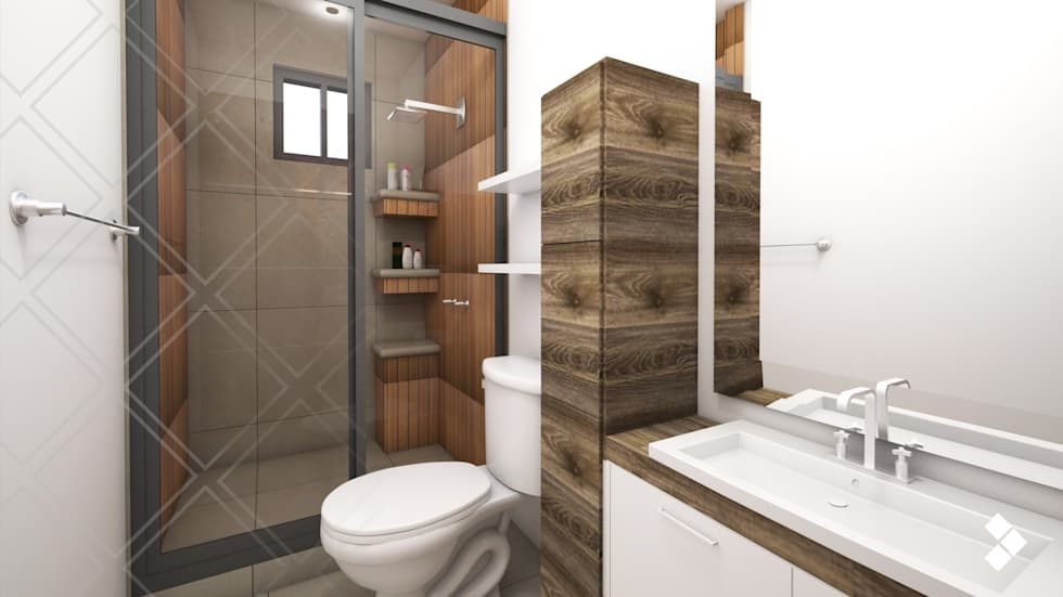 modern Bathroom by CDR CONSTRUCTORA