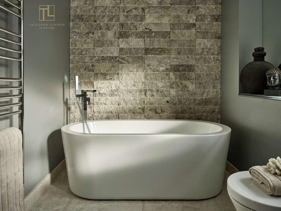 Family bathroom: modern Bathroom by Tailored Living Interiors