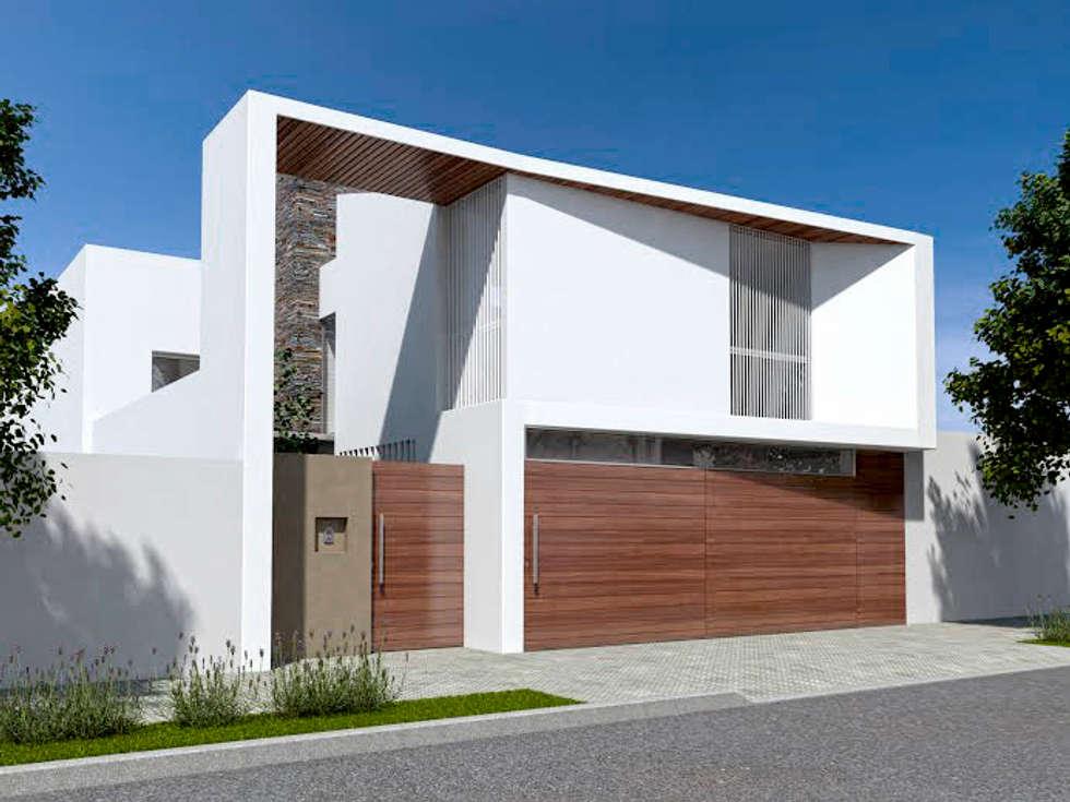 Vivienda RD: Casas de estilo mediterraneo por Proyectarq