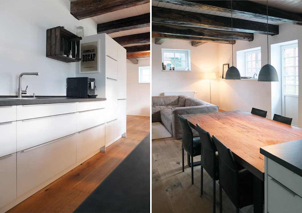 moderne küche bilder: offenes wohnkonzept | homify, Innenarchitektur ideen