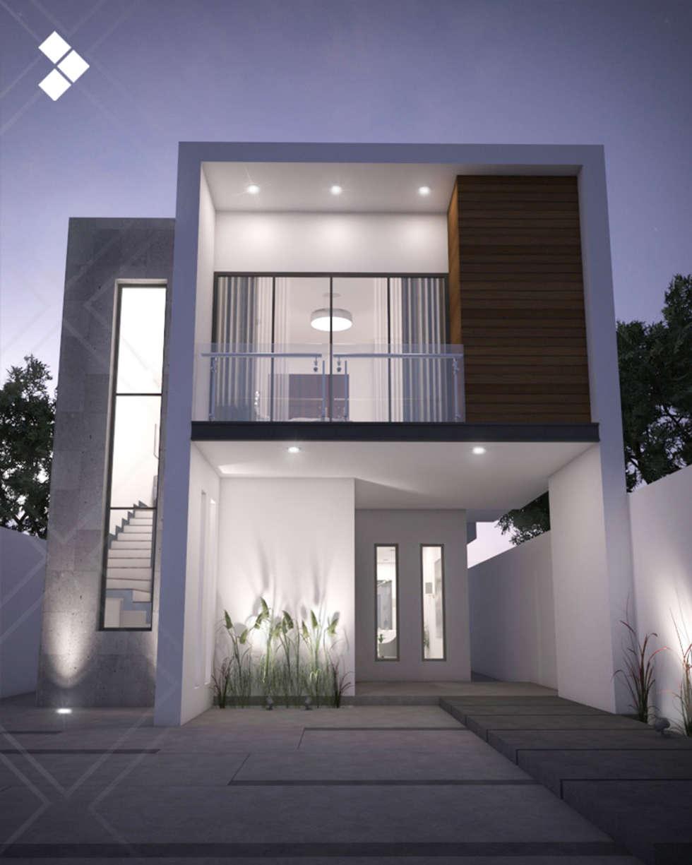 Fachada interior casas de estilo moderno por cdr for Casas minimalistas modernas interiores