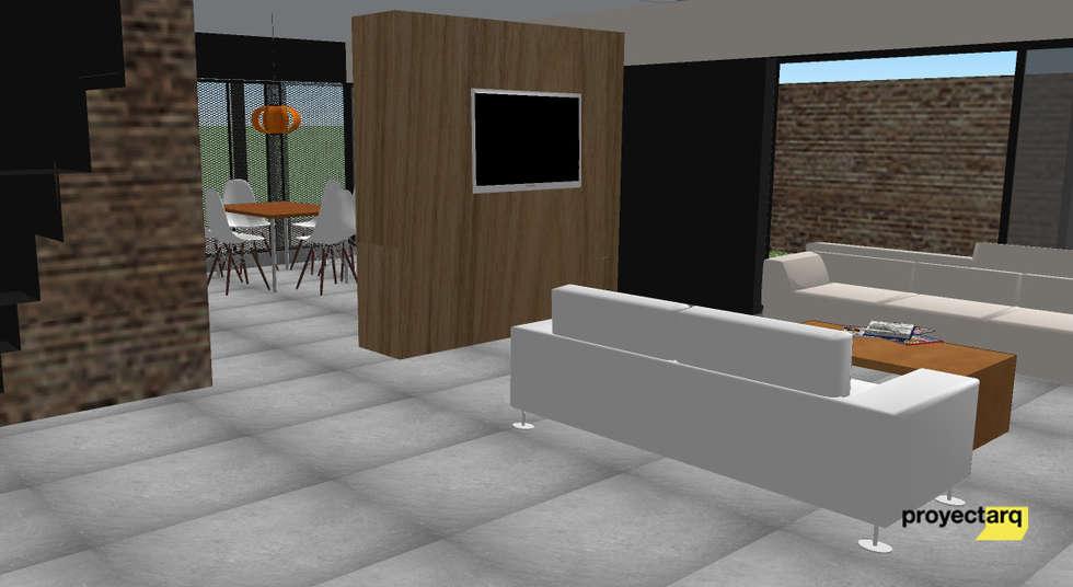 Vivienda GS: Livings de estilo minimalista por Proyectarq