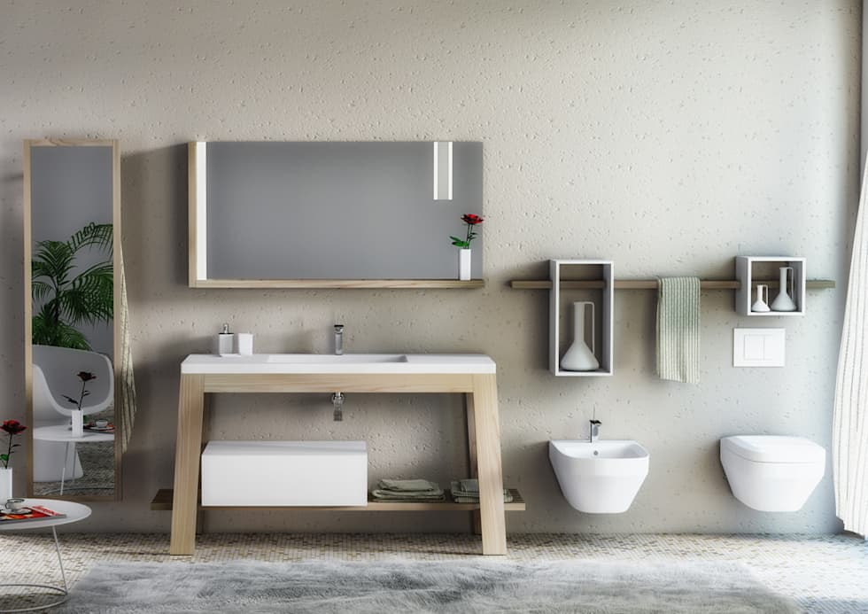 minimalistic Bathroom by krayms A&D - Fa&Fra