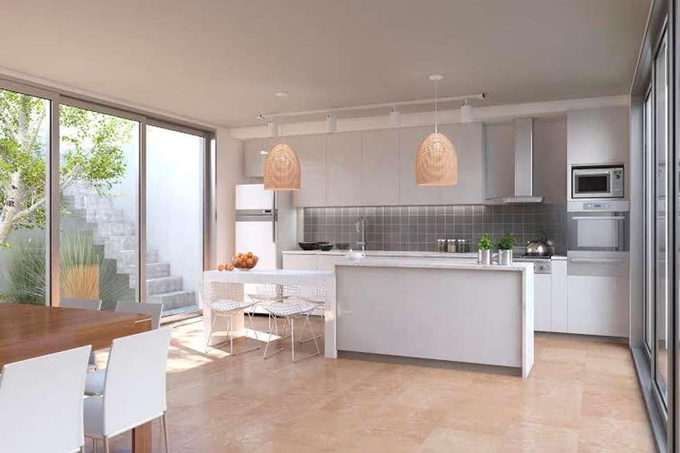 Cocina : Cocinas de estilo moderno por Proyectarq
