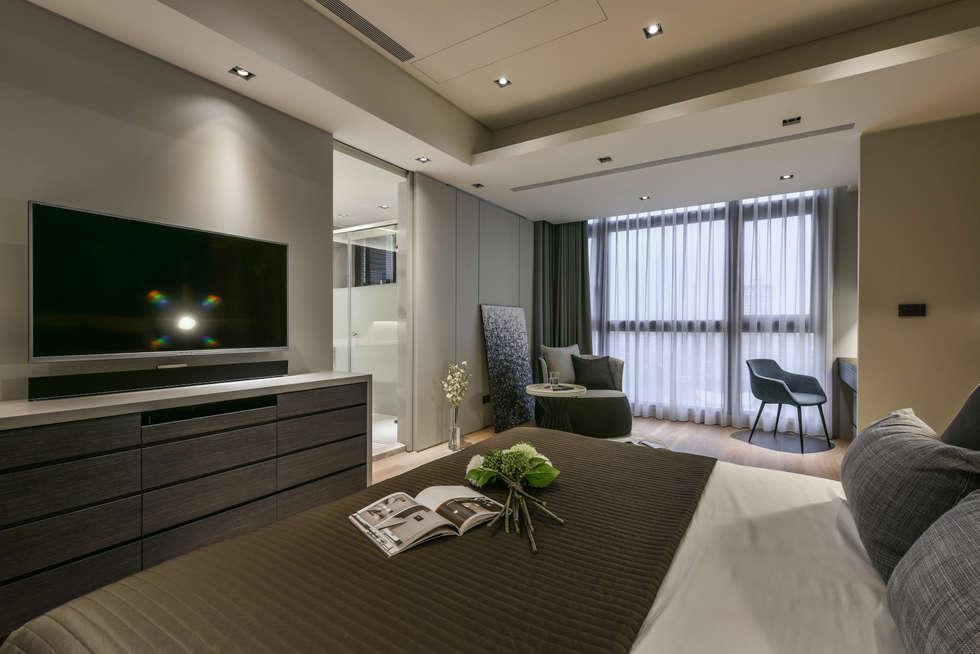 Asiatische schlafzimmer von cj interior 長景國際設計 | homify