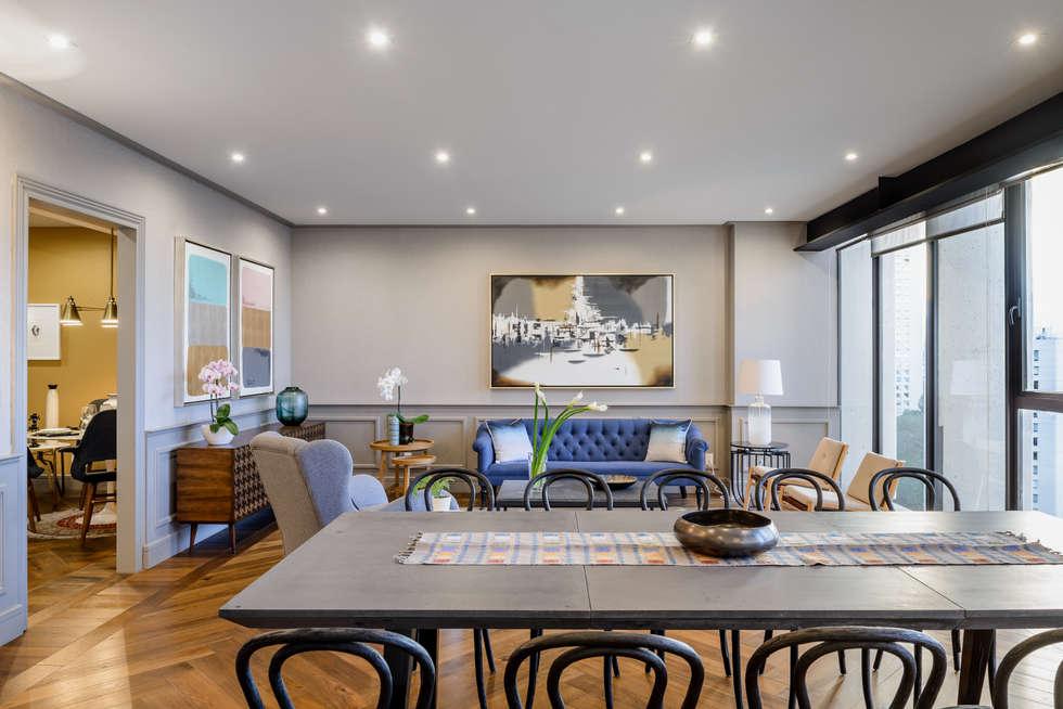 Sala De Estar Arquitectura ~ Fotos de salas de estar clássicas por nivel tres arquitectura