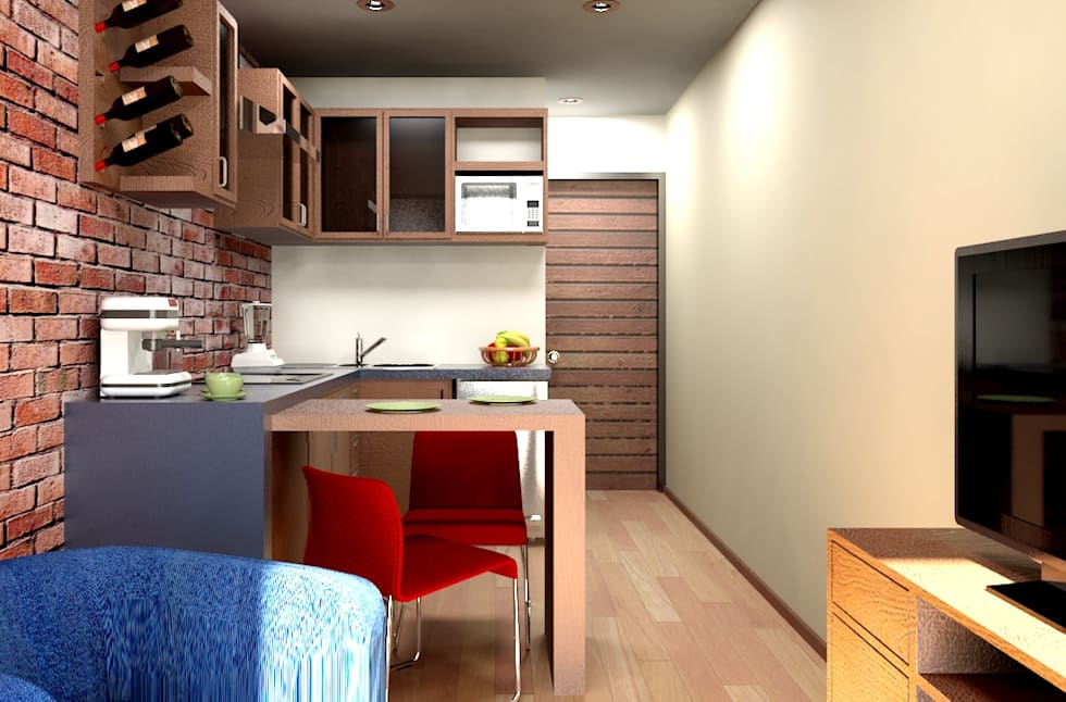 Ideas im genes y decoraci n de hogares homify for Cocinas departamentos modernos