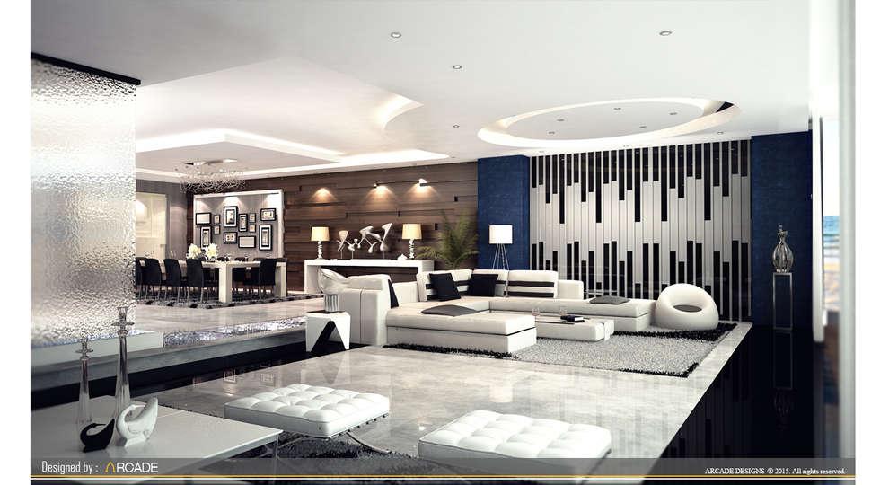 modern Living room by ARCADE DESIGNS