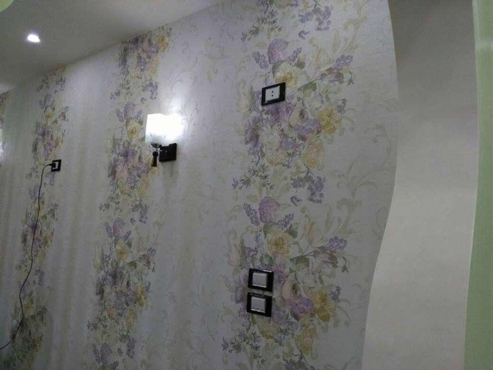 تشطيب شقة بالتجمع الخامس بالقاهرة الجديدة  مع شركة كاسل:  جدران تنفيذ Castle