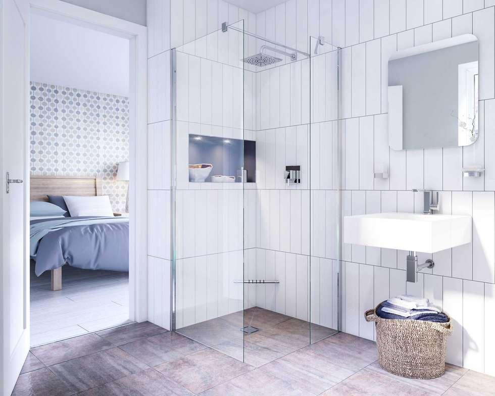 Bathroom CGI Visualisation #6: classic Bathroom by White Crow Studios Ltd